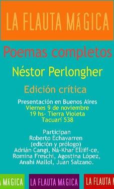 presentación de los Poemas Completos de Néstor Perlongher